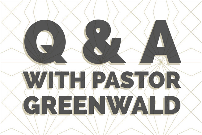 pastor greenwald will be holding special question answer sessions this summer during the sessions shell explain the interim process of gathering